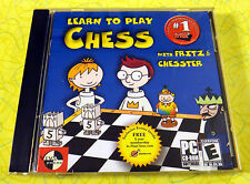 Fritz & Chesster Learn to Play Chess ~ PC CD Rom Game  Kids Instruction Strategy
