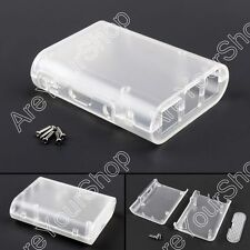 Clear ABS Plásticoc Case Box Enclosure Para Raspberry Pi 3 Pi 2 Model B + Screw.