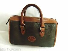 Authentic Vintage Dooney & Bourke Satchel Dr Bag  Green & Brown Leather Purse
