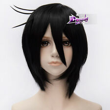 Black Butler Sebastian Michaelis Black 12 Inches Short Layered Anime Cosplay Wig