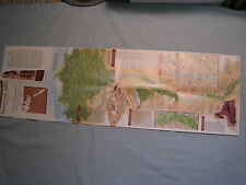 EGYPT'S NILE VALLEY THE NORTH & THE SOUTH MAP National Geographic 1995 MINT