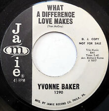 YVONNE BAKER 45 What A Difference A Day Makes JAMIE Promo R&B Soul w2080