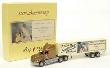 1:64 Scale Winross Ford Aeromax & Trailer - York Paper Box Company 1894 - 1994