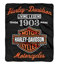 Harley-Davidson® Bar & Shield 1903 Legend Fleece Throw Blanket (50x60) 350861