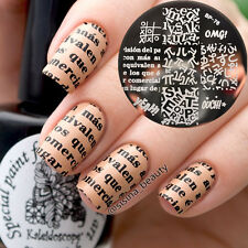 1Pc Alphabet Theme Nail Art Stamping Stamp Template Image Plate BORN PRETTY BP76