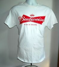 NEW MENS BUDWEISER BEER T SHIRT MEDIUM KING OF BEERS WHITE COTTON BUD