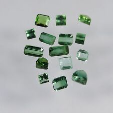 10.6 cts blue green tourmaline mixed facted cut lot afghanistan