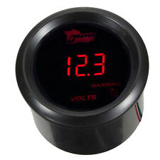 "2""52mm Voltmeter Auto Rote LED Anzeige Digital Batteriespannung Auto Gauge C23"