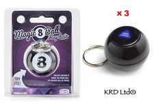 3 x Magic 8 Ball Key Ring Chain Keyring Keychain Stocking Filler Novelty Gift