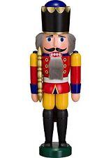NUßKNACKER König rot 29cm NEU Erzgebirge Seiffen Volkskunst Original Weihnachten