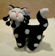 Whimsiclay Lil' Sabrina Black and White Plush Stuffed Cat  by Amy Lacombe *Rare*