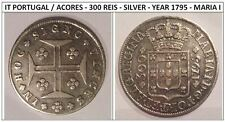 IT PORTUGAL / ACORES - 300 REIS - SILVER - YEAR 1795 - MARIA I