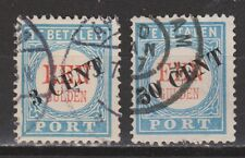 Port nr. 27 - 28 used gestempeld NVPH Netherlands Nederland due portzegel