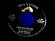 ELVIS PRESLEY~FAME AND FORTUNE~VG++~STUCK ON YOU~RCA~47-7740~ POP 45