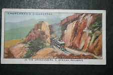 South African Railways   Drakensburg Mountains   Original 1930's Vintage Card
