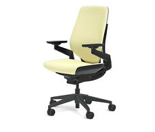 New Steelcase Gesture Chair Adjustable Cogent Connect Shell Black Frame Coconut
