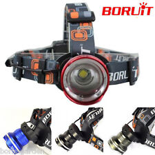 5000LM  XM-L T6 LED Headlight Flashlight Head Lamp Light AA Battery Zoomable