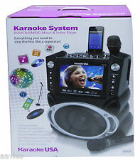 "Karaoke Singin System w/2 Mics 7"" Screen DVD CDG MP3G MP3 USB SD Player Recorder"