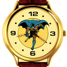 Batman Fossil Nordstrom Full Number Easy Read New Unworn Leather Band Watch $139