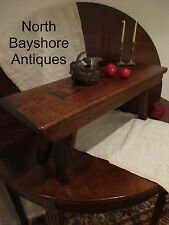 Antique 1700s Miniature Mortised Thru Wedged Wooden Painted Crock Bench aafa