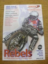 06/08/2003 Speedway Programme: Somerset Rebels v Edinburgh (writing inside/resul
