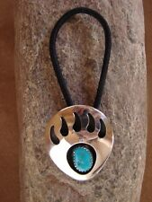 Native American Jewelry Turquoise Bear Paw Hair Tie! Navajo Indian EE0002