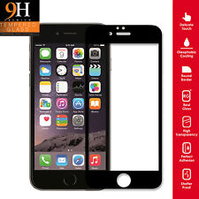 Genuine Tempered Glass Screen Protector Premium Full For iPhone 6 Plus BLACK RIM