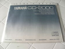 Yamaha CD-2000 Owner's Manual  Operating Instructions Istruzioni New