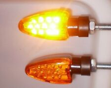 2X LED Yellow Turn signal lamp DUCATI 748 M600 M1000 996 M750 Monster Diavel