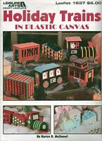 USED HOLIDAY TRAINS CHRISTMAS HALLOWEEN EASTER PLASTIC CANVAS PATTERN BOOK