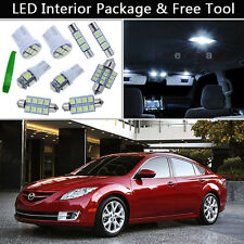 12PCS Xenon White LED Interior Car Lights Package kit Fit 2009-2011 Mazda 6 J1