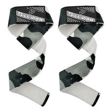 NEOPRENE PADDED WEIGHT LIFTING GYM BAR STRAPS URBAN CAMO SUPPORT WRIST WRAPS