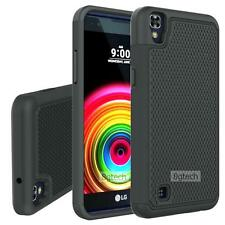 Black Dual Layer Hybrid Hard Case For LG X Power