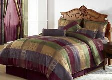 7-Piece Gitano Jacquard Patchwork Comforter Set Bed-In-A-Bag King