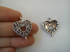 10 heart connector joiner wholesale antique tibetan silver style links uk