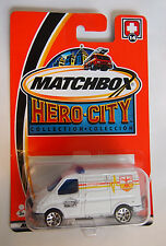 MATCHBOX HERO CITY 2002 ISSUE FORD TRANSIT AMBULANCE #14