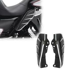 Black Mid-Frame Air Deflectors Trims For Harley Davidson Road Glide Custom FLTRX