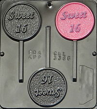 Sweet 16 Lollipop Chocolate Candy Mold  3386 NEW