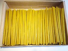 "400 Natural 100% Pure Beeswax Taper Candles ( 7"") Natural Honey Scent"