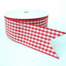 25 metre ROLL 40mm wide RED COUNTRY GINGHAM RIBBON christmas wrapping