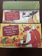 Trader Joes Autumn Apple Rooibos Tea & Harvest Blend Herbal Tea**NEW SEALED