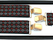 BRACES SUSPENDERS • 35mm Wide Thick Strap • Mens Ladies • GIFT • BOXED #2