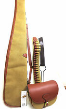 Leather & Canvas Gunslip,Cartridge bag, Gun Belt 12g  Game carrier SPECIAL DEAL