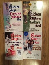 Lot of 4 Chicken Soup for the Soul Books; expectant mothers, baseball fan's, gol