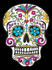 ILLUSTRATION DECORATIVE SKULL DAY DEAD MEXICO POSTER ART PRINT VE066A