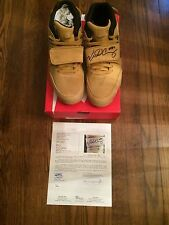 100% Auth Nike Air Trainer Signed Victor Cruz Prm Haystack Wheat sz 10.5