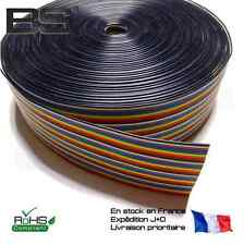 Nappe plate 40P 10 couleurs 0.12 mm2 40 pin fils DuPont wire 26AWG