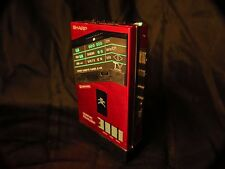 Rare Red  Sharp JC-N10 cassette player, very nice condition