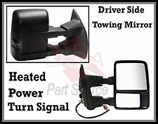 Driver Side Mirror for Ford F250 F350 F450 Power Heated Towing w/ Signal smoked