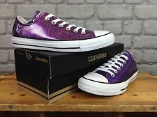 CONVERSE LADIES UK 5 EU 37.5 RICH PURPLE GLITTER OX TRAINERS
